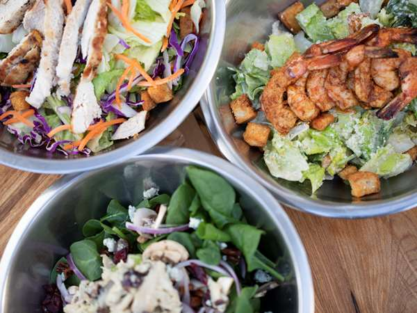 Palmer's hot chicken salads